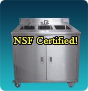 NSF Three Compartment Sink