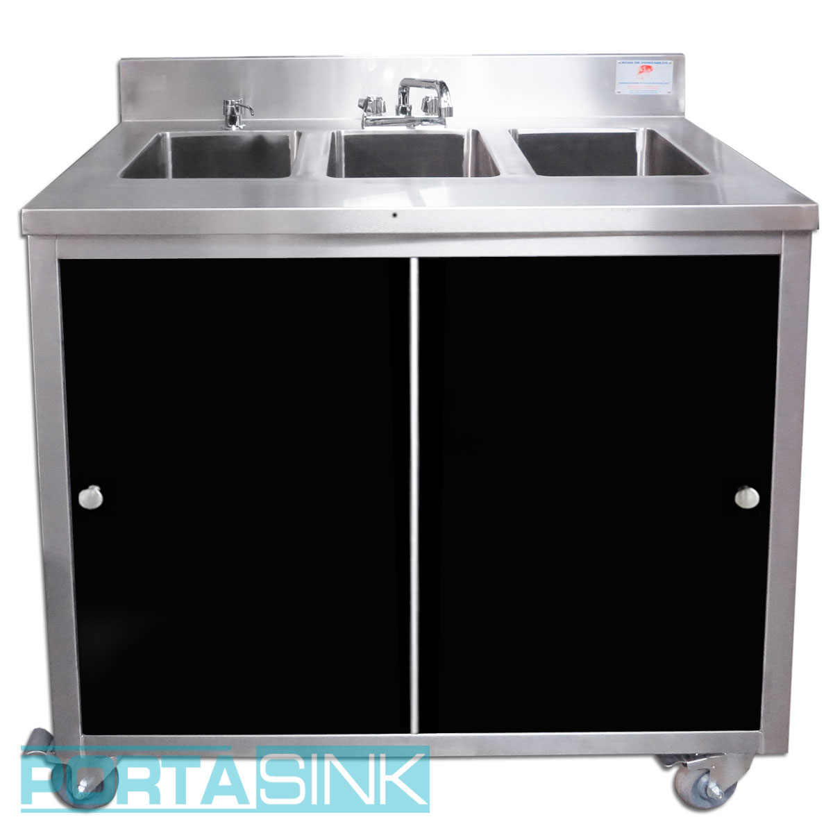 Portable Hand Sink, 3 Compartments, Acrylic Doors – Portable Sink ...