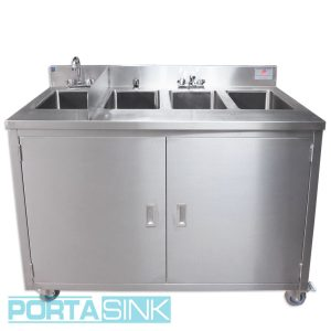 Portable 4 Compartment Sink.4 Compartment Sinks Portable Sink Portable Sinks