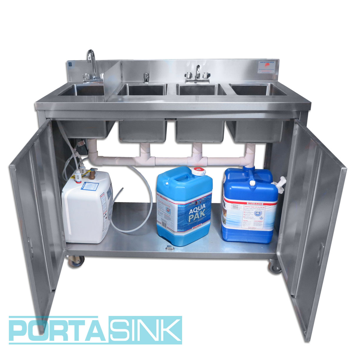Portable 4 Compartment Sink.Portable Hand Sink 4 Compartments Portable Sink