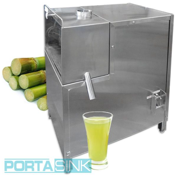 Sugarcane Machine 4 Roller Juicer Porta Sink